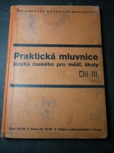 náhled knihy - praktická mluvnice jazyka českého pro měšť. školy díl. III.