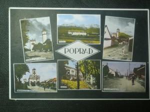 náhled knihy - Poprad - náměstí s kat. kostelem, náměstí s ev. kostelem, kasáren, museum, tatranská cesta s nádražím