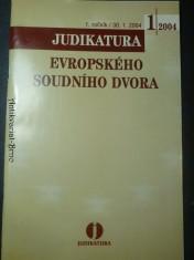 náhled knihy - Judikatura evropského soudního dvora (1. roč.)