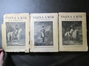 náhled knihy - Vojna a mír I. II. a III. díl