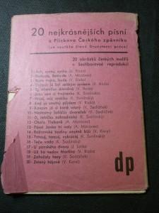 náhled knihy - 20 nejkrásnějších písní z Plickova Českého zpěvníku