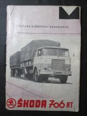 náhled knihy - Obsluha a ošetření automobilů a podvozků Škoda 706 řady RT