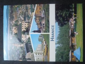 náhled knihy - Hranice - celkový pohled, ulice 1. máje, Gottwaldovo náměstí, Autocamping