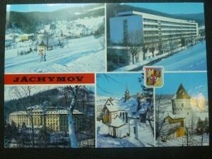 náhled knihy - Jáchymov - okres Karlovy Vary. Celkový pohled, Ústav akademika Běhounka, Sanatorium M. C. Sklodowské, Stará část města, Šlikova věž