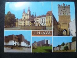 náhled knihy - Jihlava - Náměstí Míru, Městská brána, Obchodní dům Prior, ZŠ na sídlišti A. Zápotockého, Městské hradby