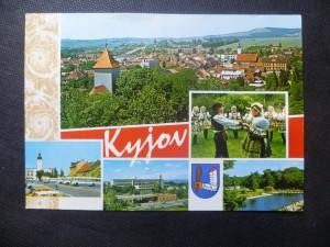 náhled knihy - Kyjov - celkový pohled, Kyjovské kraje, Gottwaldovo náměstí, Nemocnice, Koupaliště