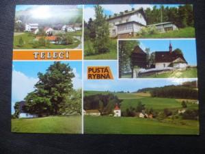 náhled knihy - Telecí u Poličky - celkový pohled, Lukásova lípa, Chata na Luckém vrchu, Gotický kostelík ze 14. st. Pustá Rybná