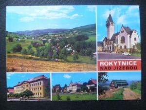 náhled knihy - Rokytnice nad Jizerou - celkový pohled, radnice, škola, hotel Krakonoš, chata Dvoračky