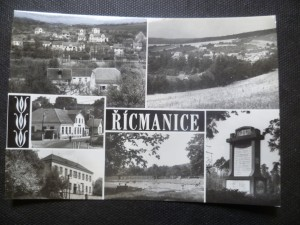 náhled knihy - Řícmanice - okres Brno-venkov. Celkové pohledy, restaurace Jednota, ZDŠ, koupaliště, pomník lesů