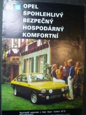 náhled knihy - Opel spolehlivý bezpečný hospodárný komfortní Kadett Ascona Manta