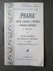 náhled knihy - Praha - spolek kapitály a důchody vzájemně pojišťující v Praze