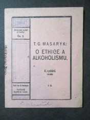 náhled knihy - T. G. Masaryk: O ethice a alkoholismu II. vydání