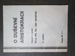 náhled knihy - O duševní aristokracii II. vydání