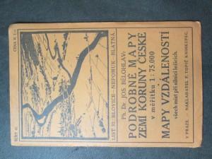 náhled knihy - Podrobné mapy zemí Koruny české v měřítku 1 : 75.000 a mapy vzdáleností všech míst při silnici ležících. Sešit 41. List 32: Blovice - Nepomuk - Blatná