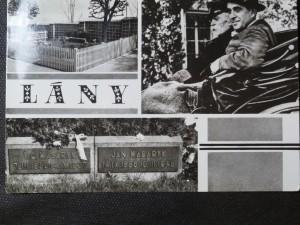 náhled knihy - První president Československé republiky T. G. Masaryk při vyjížďce se synem Jane  v Lánech v r. 1934 - Hrob na hřbitově v Lánech