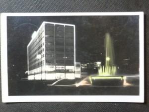 náhled knihy - Zlín v noci - Obchodní dům s fontánou