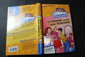 náhled knihy - Unser Geheimnis, Ein Monster namens kleine Schwester