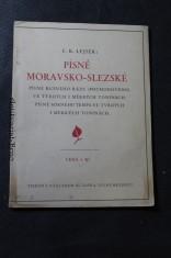 náhled knihy - Moravsko-slezské písně písně rušného ráze [pochodového] ve tvrdých i měkkých toninách : písně mírného tempa ve tvrdých i měkkých toninách