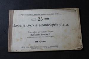 náhled knihy - 23 slovenských a slováckých písní pro mužský čtverozpěv
