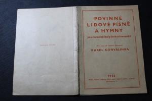 náhled knihy - Povinné lidové písně a hymny pro národní školy československé