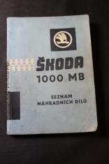 náhled knihy - Škoda 1000 MB, seznam náhradních dílů vozu