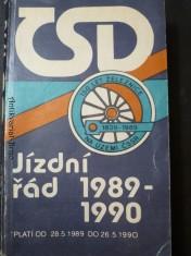 náhled knihy - Jízdní řád 1989-1990 ČSD