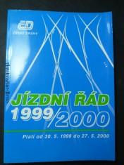 náhled knihy - Jízdní řád 1999/2000 ČSD