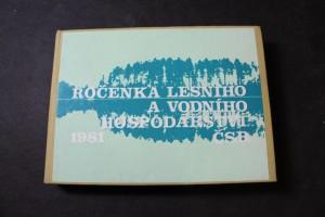 náhled knihy - Ročenka lesního a vodního hospodářství ČSR, statistická ročenka 1981