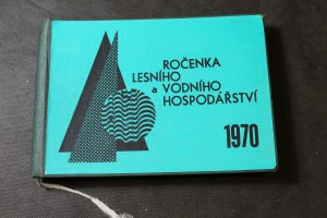 náhled knihy - Ročenka lesního a vodního hospodářství ČSR, statistická ročenka 1970