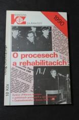 náhled knihy - O procesech a rehabilitacích : (zpráva \