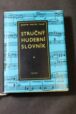 náhled knihy - Stručný hudební slovník