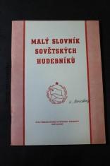 náhled knihy - Malý slovník sovětských hudebníků