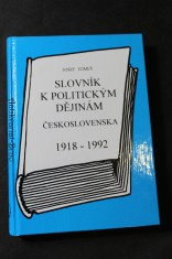 náhled knihy - Slovník k politickým dějinám Československa 1918 - 1992