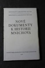 náhled knihy - Nové dokumenty k historii Mnichova : [sborník materiálů z čs. a sovět. archivů