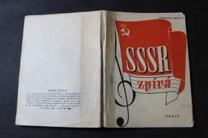 náhled knihy - SSSR zpívá 50 sovětských masových písní pro 1-4 hlasy [s doprovodem kytary neb harmoniky ad libitum]