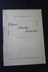 náhled knihy - Básně, říkanky, hádanky : doplněk k příručce Český jazyk v přípravném ročníku