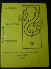 náhled knihy - K česko-německým vztahům (sborník ze semináře)