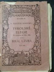 náhled knihy - Tyrolské elegie/  Král Lávra