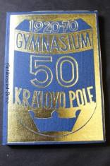 náhled knihy - 50 let gymnasia Brno-Královo Pole (1920-1970)