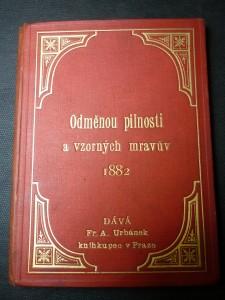 náhled knihy - odměnou pilnosti a vzorných mravův 1882
