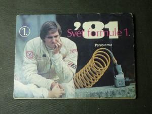 náhled knihy - svět formule 1 - soubor pohlednic