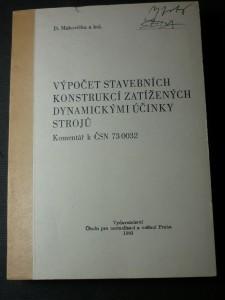 náhled knihy - výpočet stavebních konstrukcí zatížených dynamickými účinky strojů