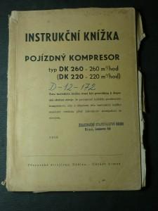 náhled knihy - instrukční knížka pojízdný kompresor
