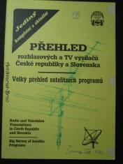 náhled knihy - Přehled rozhlasových a TV vysílačů České republiky a Slovenska. Velký přehled satelitních programů