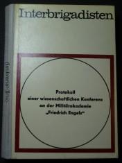 náhled knihy - Interbrigadisten. Protokoll einer wissenschaftlichen Konferenz an der Militärakademie