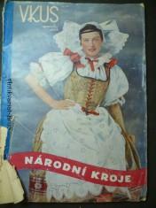 náhled knihy - Vkus - speciální sešit - národní kroje - 8 význačných krojů Čech a Moravy