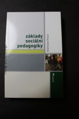 náhled knihy - Základy sociální pedagogiky