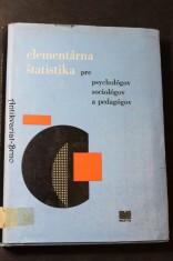 náhled knihy - Elementárna štatistika pre psychológov, sociológov a pedagógov