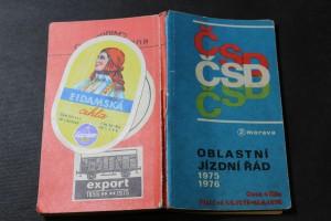 náhled knihy - ČSD oblastní jízdní řád 1975-1976, 2-Morava