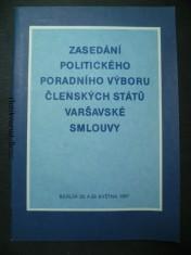 náhled knihy - Zasedání politického poradního výboru členských států Varšavské smlouvy